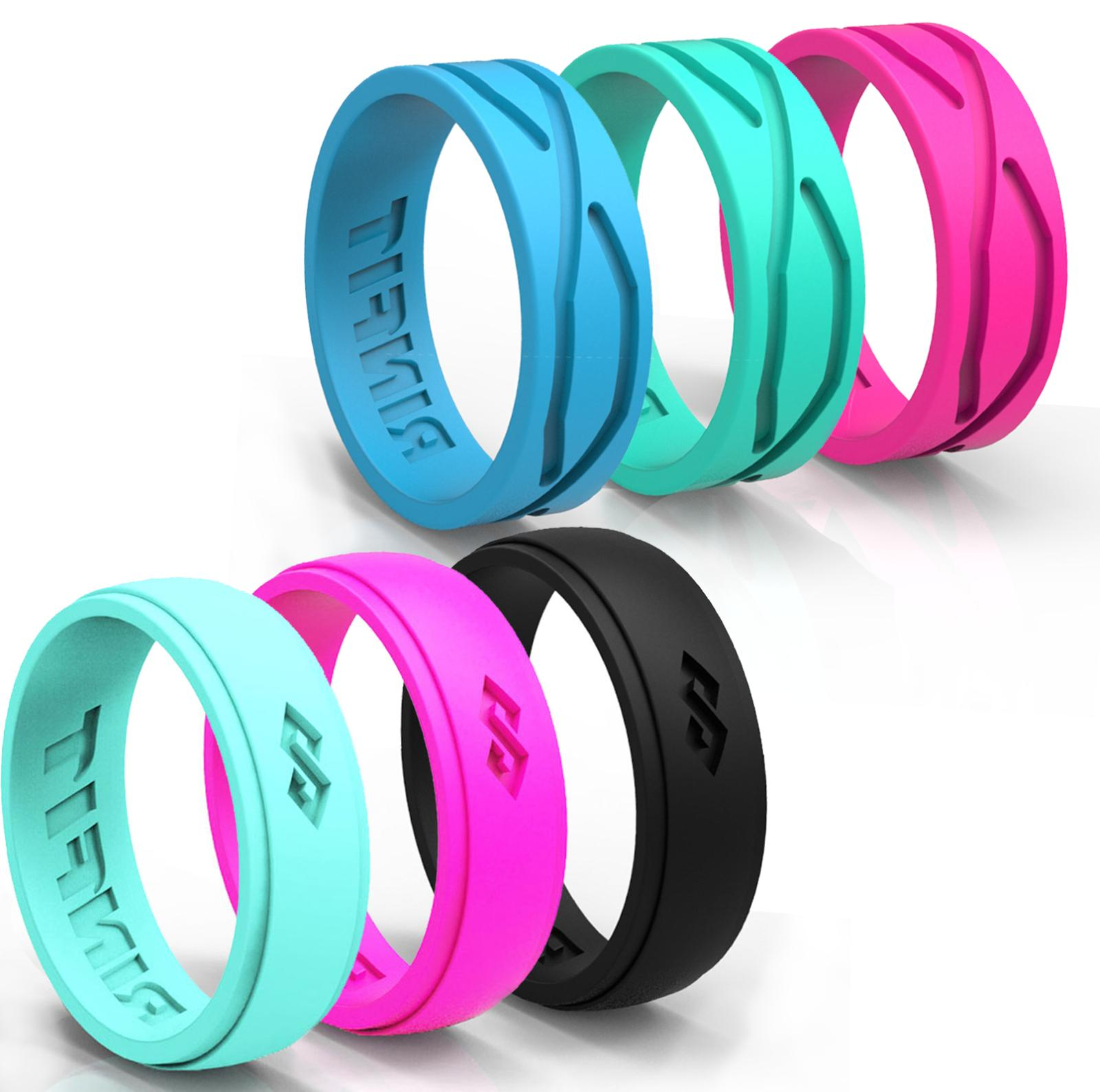 silicone wedding rings wedding bands rubber 6