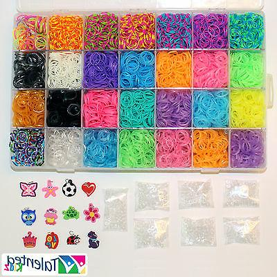 US SELLER- STORAGE CASE 11000 RUBBER BANDS, 36 CHARMS TALENT