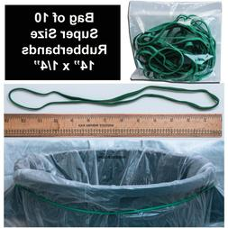 """Long Rubber Bands, 14"""" x 1/4"""", Green, Industrial Strength, P"""