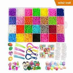 Loom Kit, Rubber Bands Refills Set for Kids Bracelet Loom Cr