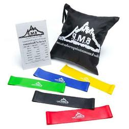 Loop Resistance Exercise Bands Durable Rubber w/Carrying Cas