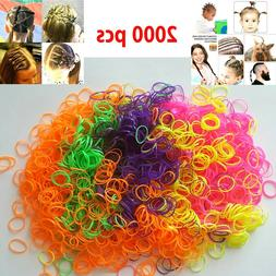Lot of 2000 Baby Girl Kid Tiny Small Rubber Elastics Bands H