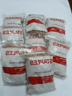 Lot of 8 Staples Economy Rubber Bands Size #54, 1/4 lb. Bag,