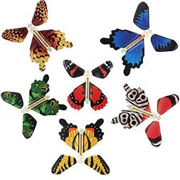 Rinhoo 6Pcs Magic Fairy Flying in the Book Butterfly Rubber
