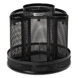Rolodex Mesh Spinning Desk Organizer Black