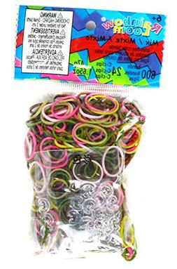 Rainbow Loom Mix Rubber Bands Childrens Jewelry Making Kits,