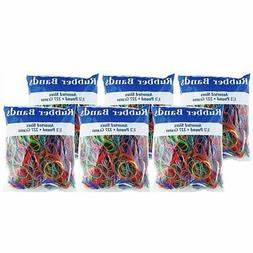 multicolor rubber bands assorted large medium small