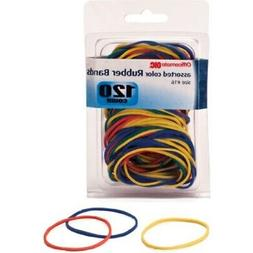 Officemate OIC Size 16 Rubber Bands, Assorted Colors, 120 pe