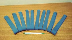 Pack of 100 Large Industrial Heavy Duty Rubber Bands, Blue.