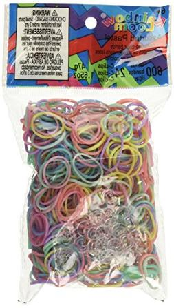 Rainbow Loom Pastel Rubber Bands with 24 C-Clips