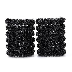phone cord hair tie Ponytail holder spiral coil no traceless