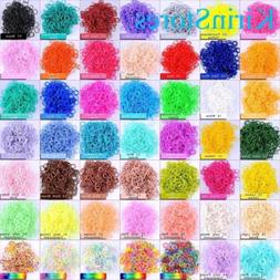 Rubber bands for Rainbow Loom Bands Kits 1800 PCs 72 Clip Re