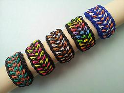 Rainbow Loom Rubber Band Bracelet - Galaxy, Pick or Custom M