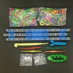 Rainbow Rubber Loom Bands Bracelet DIY Replacement Tool Kit