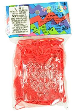 Rainbow Loom Red Rubber Bands with 24 C-Clips