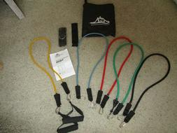 BLACK MOUNTAIN RESISTANCE BANDS NWOT with Carrying Case & Il