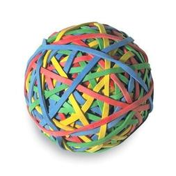 ACCO Rubber Band Ball, 275 Bands Per Ball, Assorted Colors,