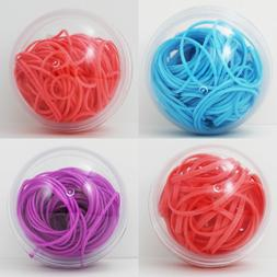 Rubber Bands #16, #32 - Fun Colors Blue Magenta or Coral - S