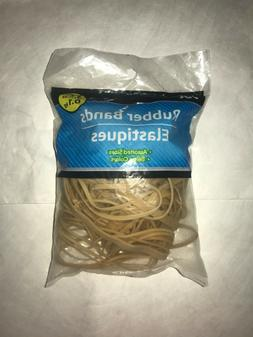 Rubber Bands 3.5oz, Tan - Assorted Sizes ; Office Products