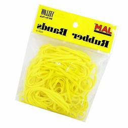 JAM Paper Rubber Bands - #33 Size - Yellow Rubberbands - 100