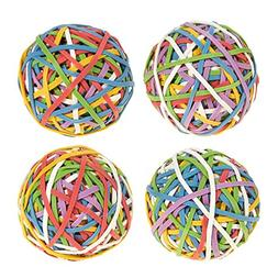 Juvale Set of 4 Multicolored Rubber Bands - Elastic Rubber B