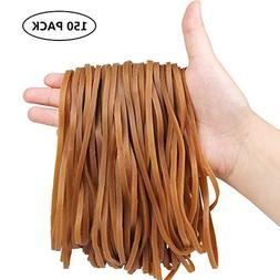 150 Pack Large Rubber Bands, Esee Heavy Duty Trash Can Band,