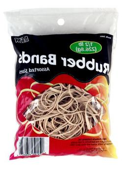 HQ Advance Products Rubber Bands, Assorted Sizes, Natural Co