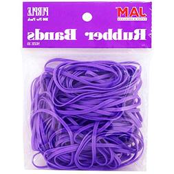 JAM PAPER Colorful Rubber Bands - Size 33 - Purple Rubberban