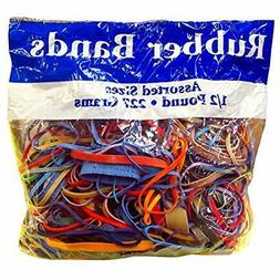 Rubber Bands Alliance Assorted Dimensions 227G/Approx. 400 B