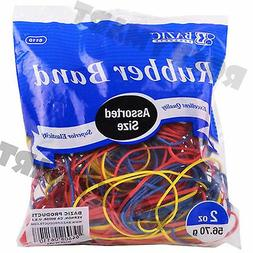 Bazic Products Rubber Bands Assorted Size And Color 12-2oz.