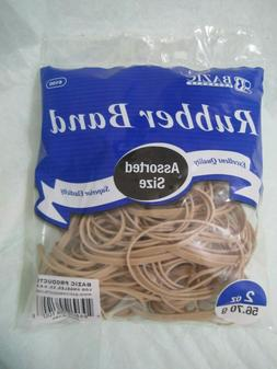 Bazic  Rubber Bands Assorted size Excellent quality 2 oz 56.