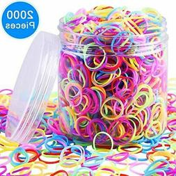 EAONE 2000 Pieces Multi-color Rubber Bands Small Candy Color