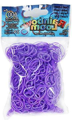 Rainbow Loom Rubber Bands Childrens Jewelry Making Kits, Pur