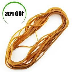 """Weoxpr 100 Pcs 8"""" Large Rubber Bands Trash Can Band Elastic"""