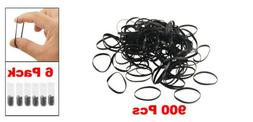 uxcell® 6 Pack 900 Pcs Multicolor Rubber Elastic Hair Band