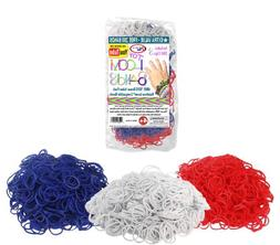 5000 pc Rubber Band Refill Mega Value Pack with Clips - 100%
