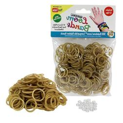 Loom Rubber Bands - 300 Metallic Gold Silicone Rubber Band R
