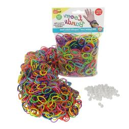 Loom Rubber Bands - 1000 Rubber Band Refill Variety Value Pa