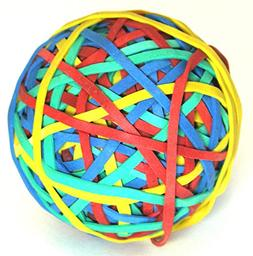 HQ Advance Products Rubberband Ball, Assorted Color
