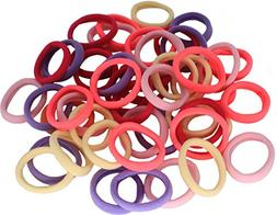 50 Pack Dreamlover Seamless Thick Cotton Hair Rubber Bands,