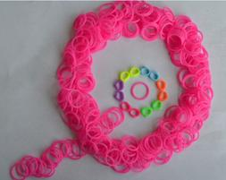 Silicon Rubber Bands with Colored Q-clips for use with Rainb