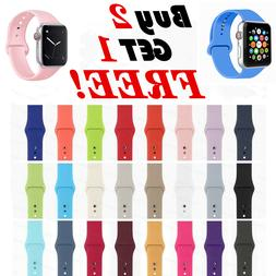 Silicone Band Strap For Apple Watch 1/2/3/4 iWatch Sports Se