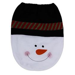 TOOPOOT® Snowman Toilet Seat Cover Christmas Decoration