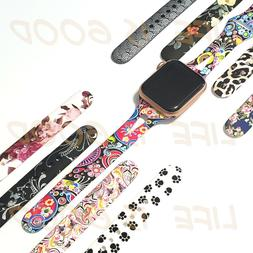 Soft Silicone Multicolor Band Compatible Apple Watch Series
