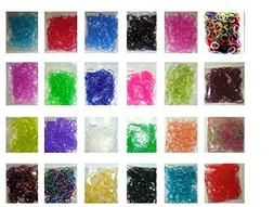 7200 Pc Special Colors, Beautiful Loom Band Refill Kit From