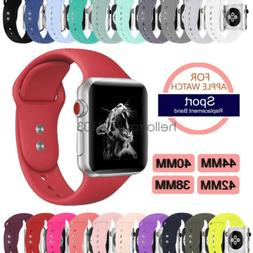 Sport Silicon Watch Band Strap for Apple Watch iWatch Series