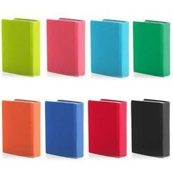 Stretchable Fabric Jumbo Size Book Covers, Assorted Solid Co