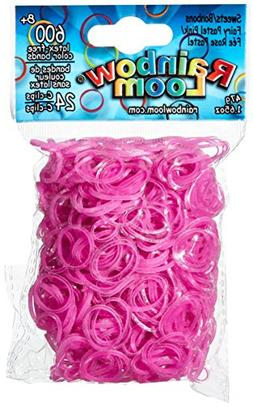 Rainbow Loom Sweets Fairy Pastel Pink Rubber Bands with 24 C