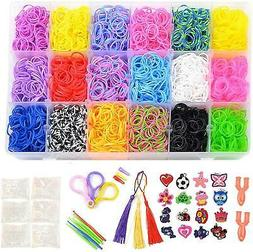 Totem World 6850 Pcs Rainbow Color Loomy Rubber Bands DIY Re