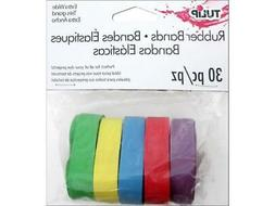 tul31627 rubber bands multi wide 30pc